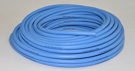 Elektroschlauch blau/schwarz